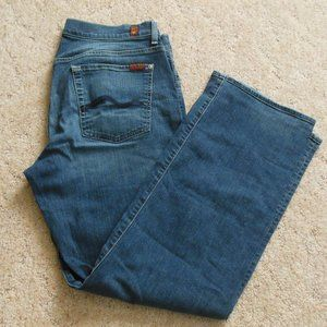7 For All Mankind Relaxed Fit Medium Wash Jeans